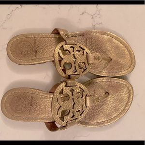 Tory Burch Miller Sandals in Gold